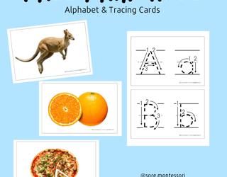Free Printable: Alphabet & Tracing Cards
